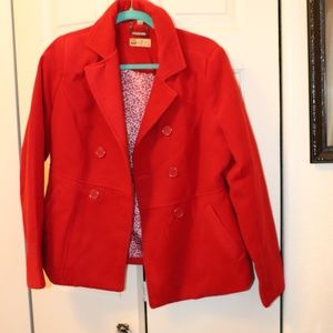 Red Peacoat Size L Womens